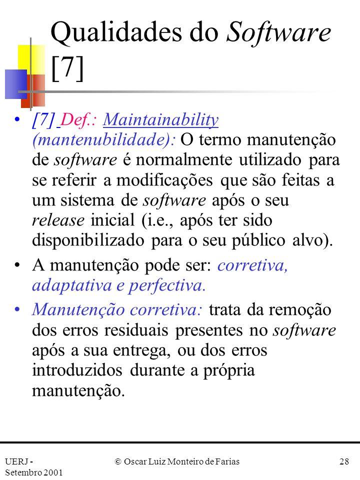 Qualidades do Software [7]
